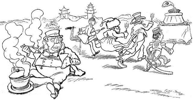 Caran d'Ache,Voyageurs.John Grand-Carteret (1850-1927) : Chinois d'Europe et Chinois d'Asie. 175 images satiriques, pour servir à l'histoire des chinoiseries de la politique européenne de 1842 à 1900.