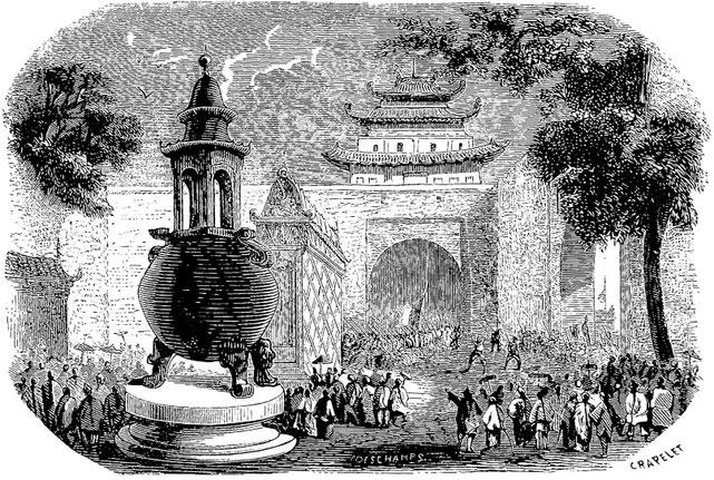 Armand LUCY (18xx-) : Lettres intimes sur la campagne de Chine en 1860. Jules Barile, imprimeur, Marseille, 1861.