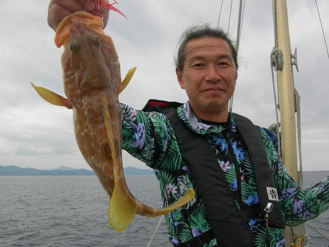 ↑自作のタイラバで良く釣れていました。市販してほしいほど!