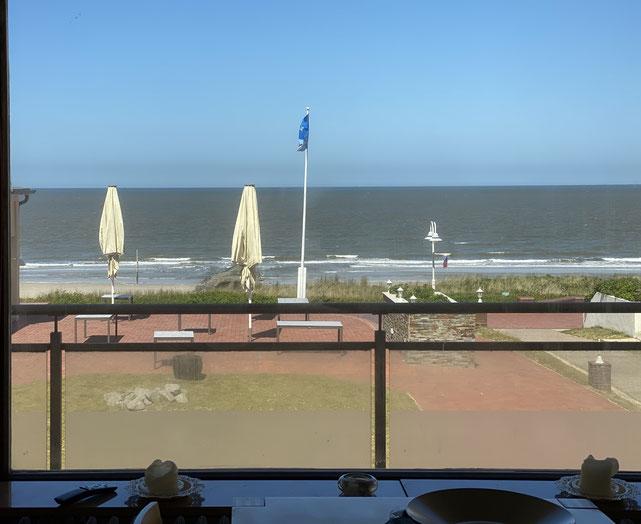 Ferienwohnung 23 mit Meerblick auf die Nordsee auf den Strand, 5 Feriengäste