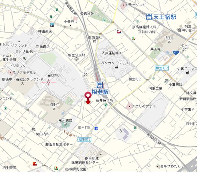 桐生市相生町5-144-38 駐車場 地図
