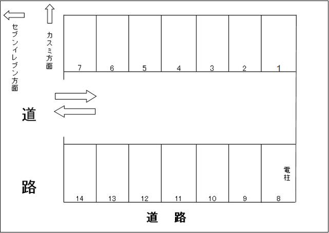 桐生市相生町5-431-19 駐車場 配置図