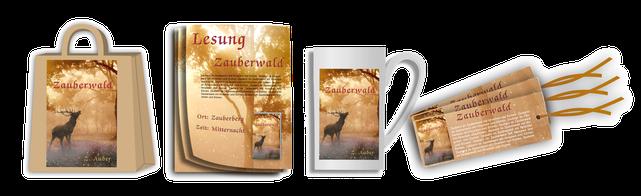 Ka&Jott Werbemittel für Autoren, Lesezeichen Flyer, Buch Promotion
