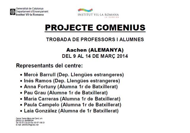 3 trobada projecte comenius