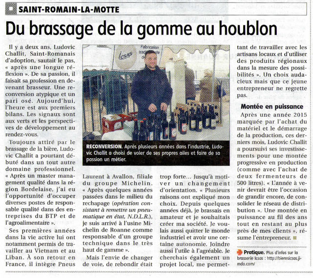Article journal Le Pays roannais