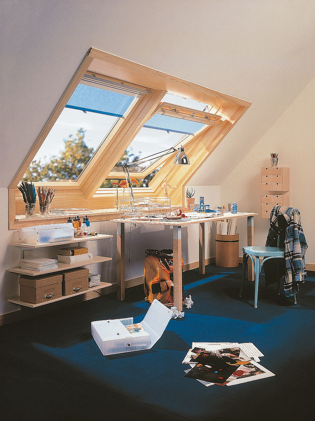 Introduce light and fresh air into attics and turn room for expansion into cosy living spaces
