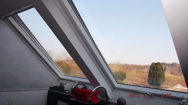 2 sehr Große Kipp Fenster, aussreichende Belüftung und viel Tageslicht