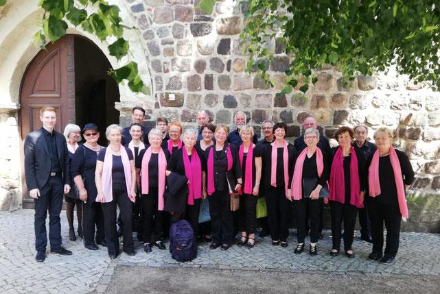 Auftritt am 01. 06. 2019 zum 15. Chorfest in Luckau