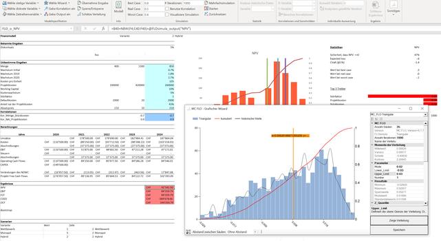 Was ist eine Monte-Carlo Simulation? MC FLO Excel