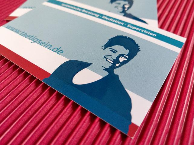 Image Design. Visitenkarte mit partiellen Relieflack für Edna Wenning, Dipl. Psychologin. Von Funkenflug Design Münster.