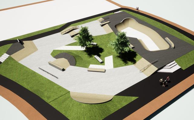 THE EDGE - Skatepark béton Ville de Morlaix  - Streetpark et bowl