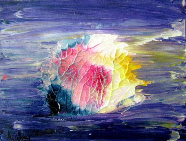 mini-peinture-abstraite-decoration-minimaliste-peinture-violet-rose-jaune-poisson-audrey-chal-royan