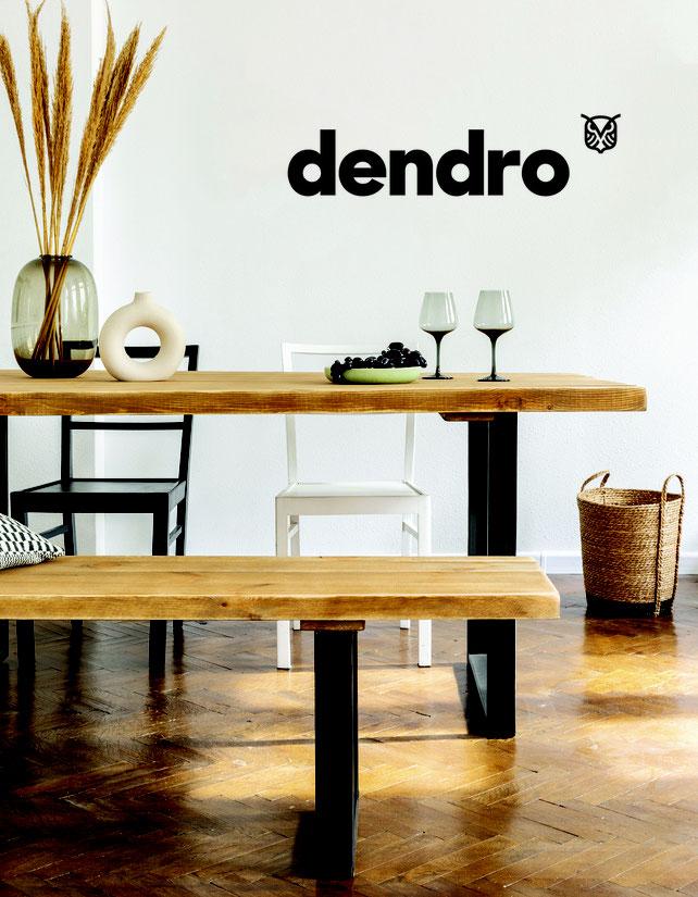 Dendro et son mobilier en bois massif dans Maison Actuelle