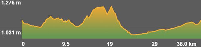Pefil ruta bici elèctrica Age - Baixa Cerdanya