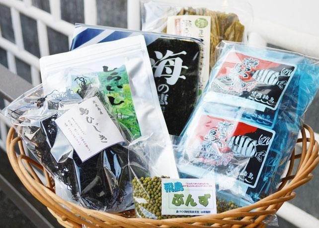 島づくり海社で取り扱いの笠岡諸島・特産品(3000円セット)※内容は時期によって異なります。