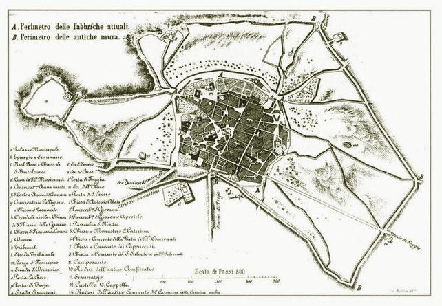 Pianta della città romana di Lucera