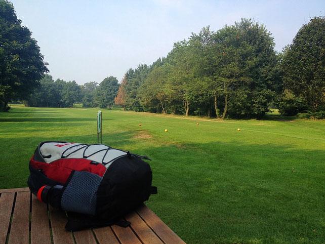 Rast auf dem Golfplatz Hof Loh