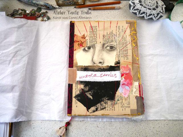 künstlerisch gestaltetes Notizbuch von Conni Altmann