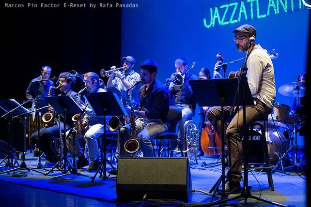 Marcos Pin · Marcos Pin Factor E- Reset · Jazzatlántica/Teatro Rosalía de Castro (A Coruña) ·18/11/ 2013           Photo : Rafa Pasadas