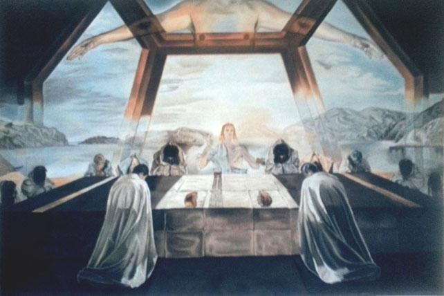 """Die """"12 Apostel"""" nach einem Bild von Dali, 150 x 100 cm Öl auf Leinwand"""