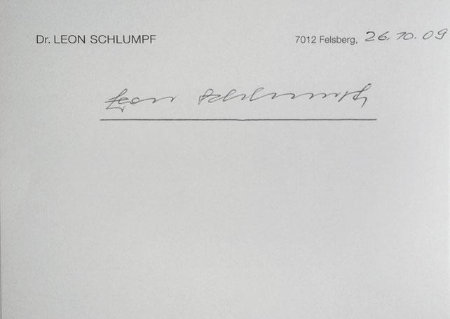 Autograph Leon Schlumpf Autogramm