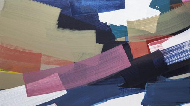 2013, Pigment, Acryl auf Leinwand, 100cm x 140cm