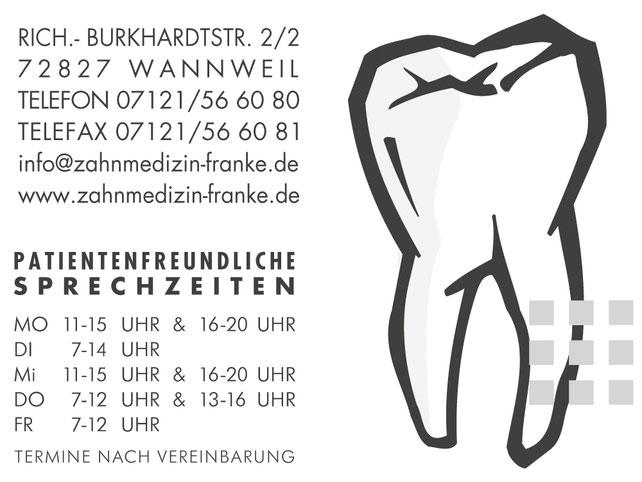 Zahnarzt Dr. Peter Franke, Wannweil, Reutlingen, Tübingen