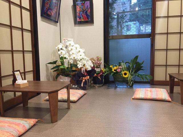 奥ではイベントもできるかわいい和室スペースが。