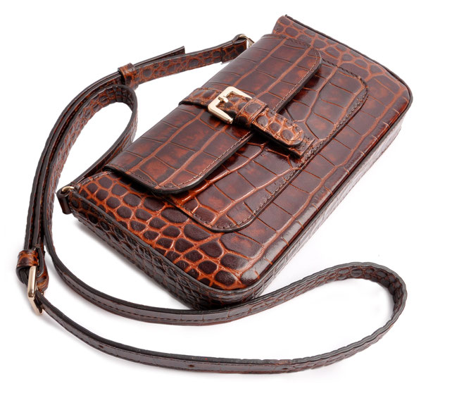 Edle Trachtentasche  Leder braun   . OSTWALD Traditional Craft