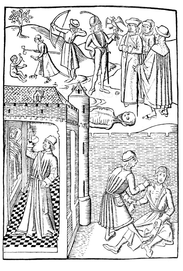 Freuden und Leiden der Welt, aus dem niederländischen Bartholomäus Anglicus, Haarlem 1485.