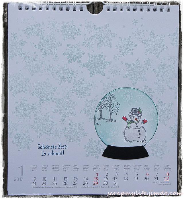 stampin up - Perpetual Birthday Calendar - Es schneit! - Flockenzauber