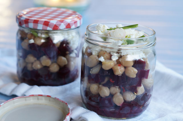 Rote Beete-Salat mit Kichererbsen und Feta