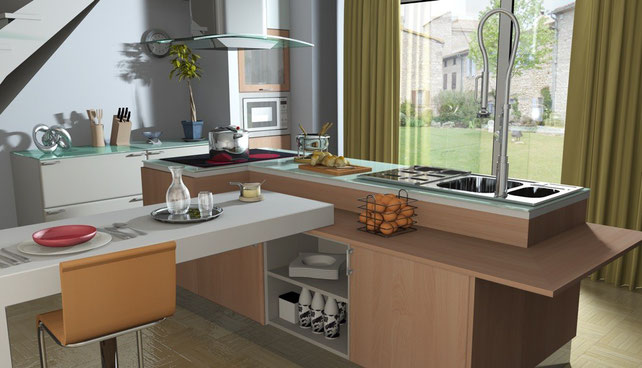 3D Interior Design - Kitchen