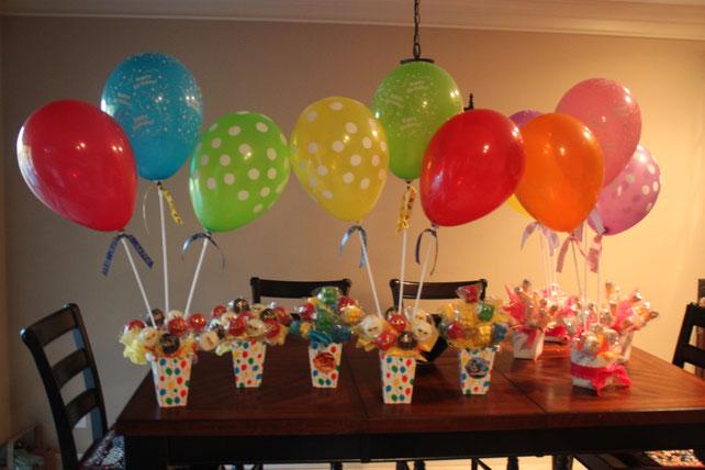 decorar con globos con palo