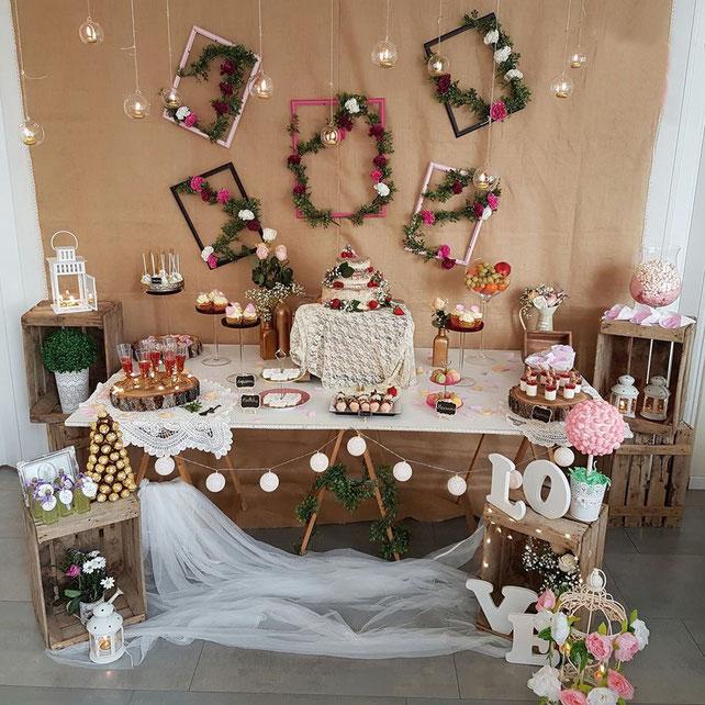 ideas de mesa de dulces para boda