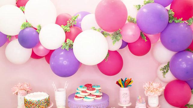 cadena de globos para fiesta