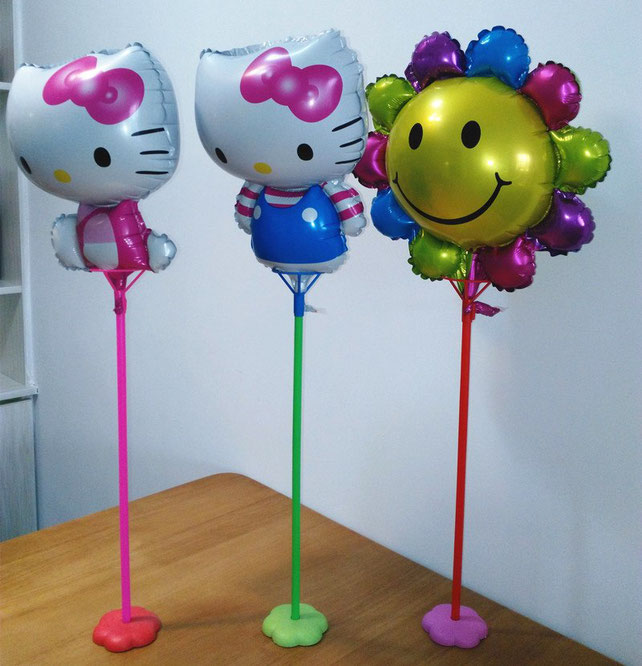 globos metalicos con palo