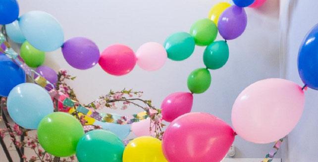 cadenas de globos colgantes