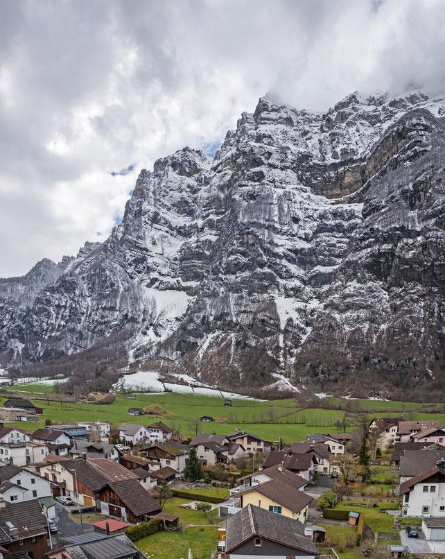 Blick vom Bühl nach Westen. Aufnahme März 2016