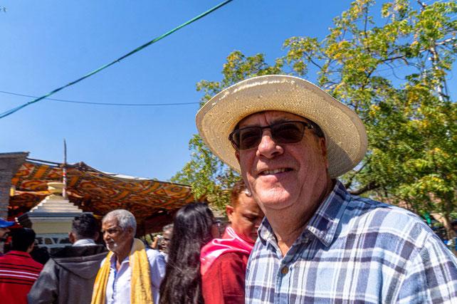 Peter at the 2020 Amartithi celebrations at Upper Meherabad, India