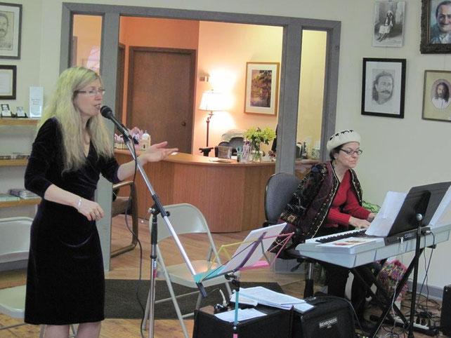 2014 : Bobbi Bernstein ( keyboard ) and Laurece West