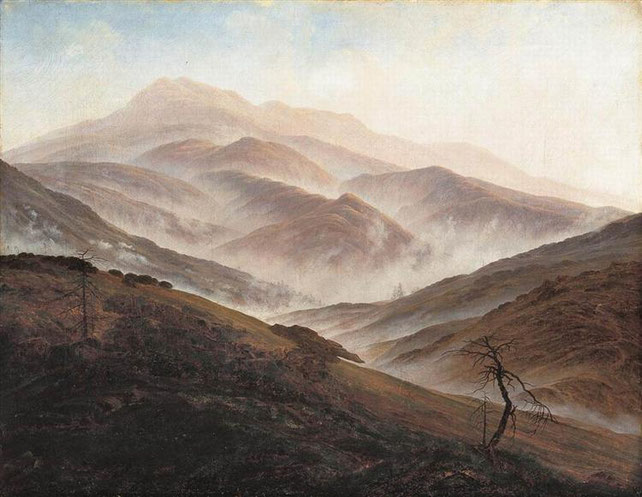 """C. D. Friedrich, """"Montagne giganti"""" (1820)"""