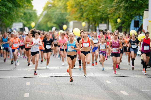 Julia Mayer sieg wien Frauenlauf 5km Straßenlauf wiener prater Hauptallee 15:48 österreichischer Rekord ASICS Dsg wien