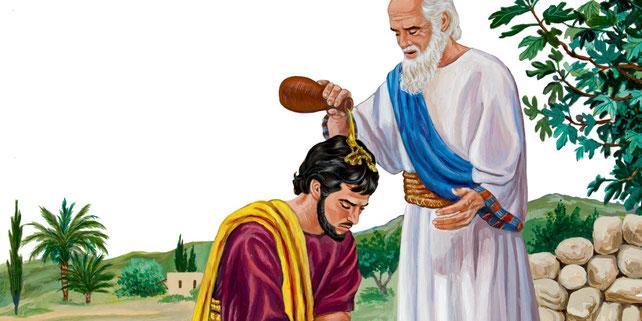 Seules quelques personnes ont été consacrées par onction afin d'occuper des fonctions très élevées en Israël : les fonctions de rois, prophètes ou grand-prêtre. Oint vient de l'hébreu « mashach » qui a donné Messie et du grec « Chrio » qui a donné Christ.