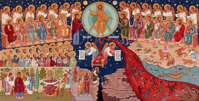 La theosis des orthodoxes. Pour les orthodoxes, après la mort, l'âme devra passer par diverses épreuves, comme des péages, qui correspondent aux passions dont elle n'a pas su se débarrasser durant sa vie charnelle. Les démons lui demanderont des comptes.