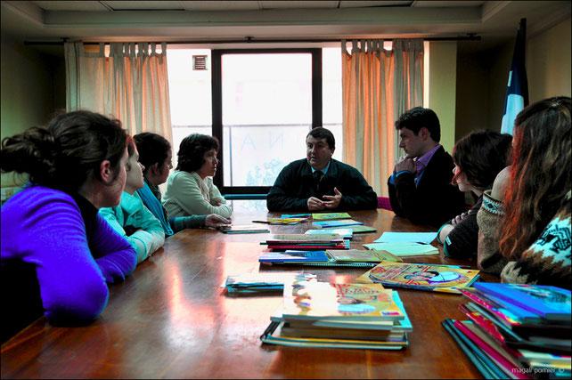Nous sommes reçu au siège de la CONADI (Corporation National de Desarollo Indigena) de Temuco et par son chef