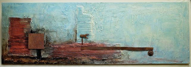 ausgedient, Resteverwertung ,  Bild , Gemälde , Kunst , Acryl , Leinwand , arthaus kempen , Kunst , Künstler , Silvia Heimbucher