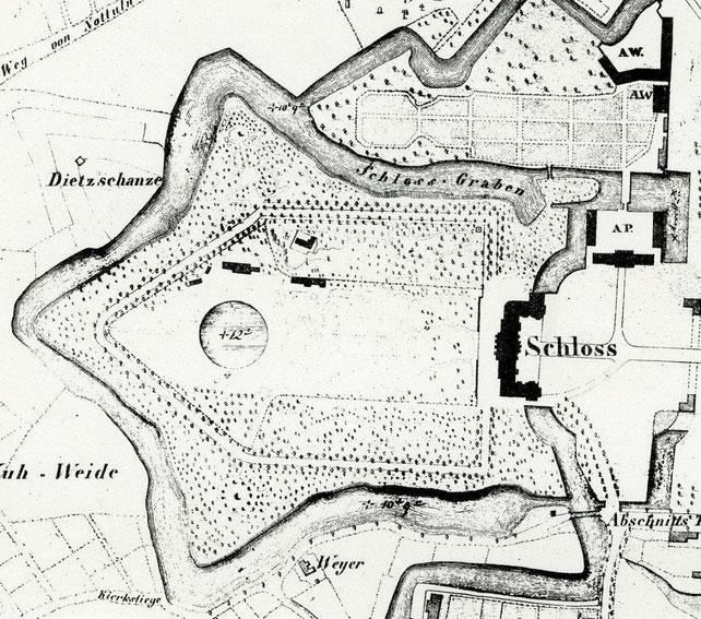 Ausschnitt aus Manger-Stadtplan von 1839 - 6222.284.15