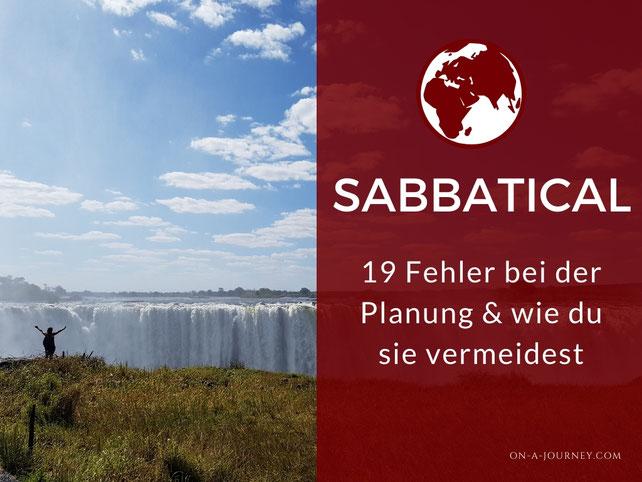 Sabbatical-planung