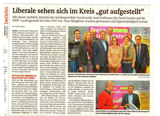 Bericht zum Kreisparteitag 2016, IKZ vom 08.03.2016